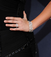 Hilary Scott wore a sparkling diamond bracelet to the 2011 Academy of Country Music Awards.