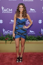 Jana Kramer looked ready to hit the dance club in this strapless number at the Academy of Country Music Awards.
