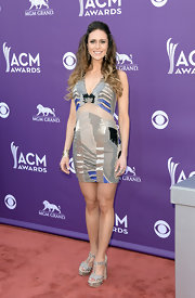 Kelleigh Bannen's ACM frock was an updated version of the classic printed patchwork dress.