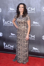 Martina McBride kept it classy at the ACM Awards in a floral sequined column dress from the David Meister Signature collection.