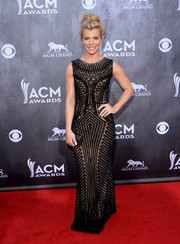 Kimberly Perry was Art Deco-chic in an ornately beaded sheer-overlay gown by Georges Hobeika during the ACM Awards.