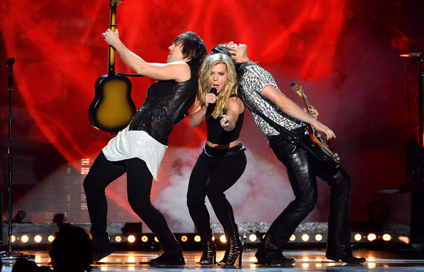 The Band Perry Siblings Styled in Complementary Rocker Wear in 2014