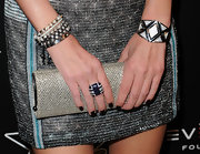 Nicky wore a decorative Bryant Park cocktail ring from the Chelsea collection set in sterling silver and cubic zirconia stones.