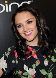 Rachel Leigh Cook added a pop of color to her look with pink lip gloss.
