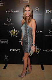 Nicky Hilton carried a beaded silver clutch to the Hollywood Domino Gala.