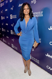 Garcelle finished her look off with a pair of sexy nude cutout heels.