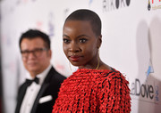 Danai Gurira looked tough-chic with her buzzcut at the Hollywood Beauty Awards.