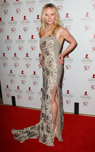 Anne Heche wore a beaded gown with a hip-high slit for the St. Jude benefit.