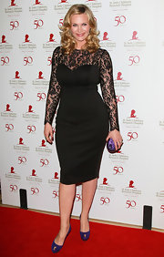 Natasha Henstridge wore a lacy LBD for the St. Jude benefit.