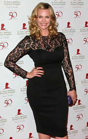 Natasha Henstridge wore classic red on her lips and nails at the 50th anniversary celebration for St. Jude Children's Research Hospital.
