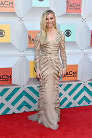 Kimberly Perry looked fierce in a zebra-sequined nude gown at the Academy of Country Music Awards.