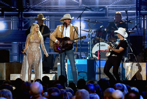 More Pics of Carrie Underwood Cocktail Dress (1 of 41) - Cocktail Dress Lookbook - StyleBistro [performance,entertainment,stage,musician,music,performing arts,event,concert,music artist,public event,carrie underwood,brad paisley,alan jackson,cma awards,nashville,tennessee,bridgestone arena,show]