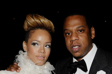 Rihanna Jay-Z 52nd Annual GRAMMY Awards - Audience