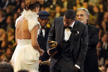 Rihanna Jay-Z 52nd Annual GRAMMY Awards - Show
