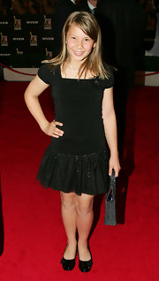 Bindi Irwin's black ballet flats finished off her little black dress in sweet style.
