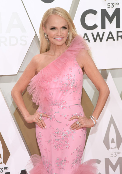 More Pics of Kristin Chenoweth One Shoulder Dress (1 of 5) - Kristin Chenoweth Lookbook - StyleBistro [hair,clothing,shoulder,dress,pink,hairstyle,blond,beauty,long hair,joint,arrivals,kristin chenoweth,cma awards,nashville,tennessee,music city center]