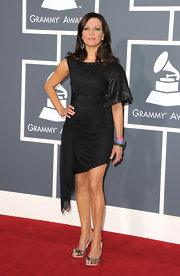 Martina takes a unique approach to the little black dress in this A-symmetrical number at the Grammy Awards.