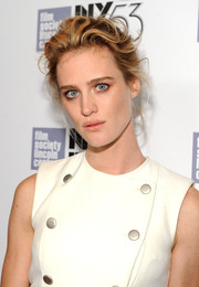 Mackenzie Davis opted for a messy-glam updo when she attended the New York Film Festival premiere of 'The Martian.'