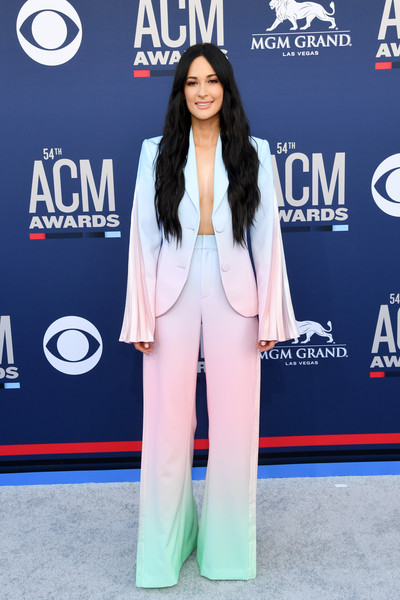 More Pics of Kacey Musgraves Pantsuit (5 of 6) - Suits Lookbook - StyleBistro [clothing,red carpet,carpet,suit,outerwear,premiere,flooring,electric blue,long hair,event,arrivals,kacey musgraves,mgm grand hotel casino,nevada,las vegas,academy of country music awards]