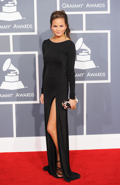 More Pics of Chrissy Teigen Evening Dress (1 of 3) - Chrissy Teigen Lookbook - StyleBistro