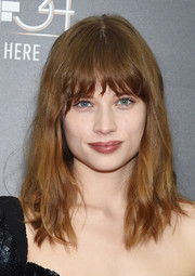 Makenzie Leigh rocked messy waves with eye-skimming bangs at the New York Film Festival screening of 'Billy Lynn's Long Halftime Walk.'