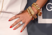 Rocsi Diaz showed her love of music with funky music-inspired nail art.