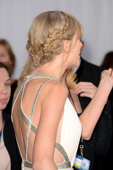 More Pics of Taylor Swift Braided Updo (2 of 24) - Taylor Swift Lookbook - StyleBistro