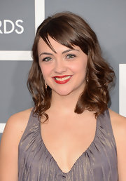 Neyla Pekarek's shoulder-length hair still looked glamorous with side-swept bangs and thick waves.