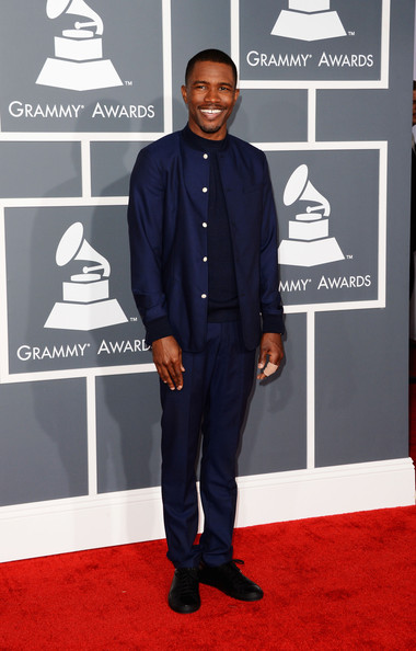 Frank Ocean rocked a less traditional navy suit at the 2013 Grammy Awards.