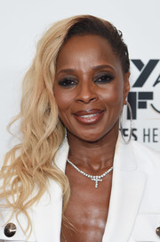 Mary J. Blige wore her hair in a glamorous side sweep at the New York Film Festival premiere of 'Mudbound.'