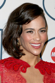 Paula Patton wore a bob with side-swept bangs at the pre-Grammy gala.