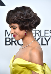 Gugu Mbatha-Raw dazzled us with her Fred Leighton gemstone drop earrings at the New York Film Festival premiere of 'Motherless Brooklyn.'