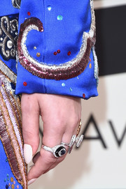 Lady Gaga attended the Grammys wearing a load of cocktail rings.
