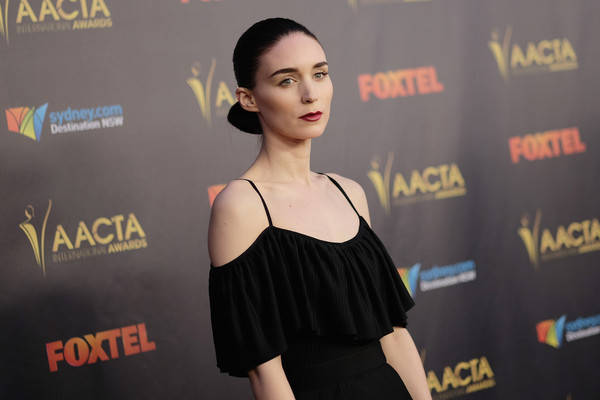 More Pics of Rooney Mara Chignon (1 of 14) - Updos Lookbook - StyleBistro [face,fashion,hairstyle,premiere,carpet,shoulder,red carpet,flooring,dress,model,arrivals,rooney mara,avalon hollywood,california,los angeles,united states,aacta international awards]