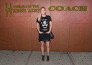 Dylan Penn brought major edge to the Friends of the High Line Summer Party with this skull-and-crossbones T-shirt by Coach.