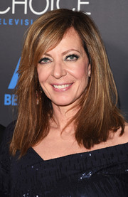 Allison Janney opted for a simple straight style with side-swept bangs when she attended the Critics' Choice Television Awards.