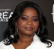 Octavia Spencer created a smoky-eyed look using rich shades of amethyst and icy lavender shadow at the 5th Annual 'Essence' Black Women in Hollywood luncheon.
