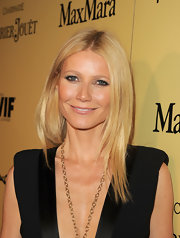 Gwyneth Paltrow attended the 5th Annual Women in Film pre-Oscar party wearing a pale pinky-beige lipstick.
