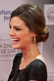 Amaia Salamanca wore a huge smile and her hair in a loose low bun at the Donostia Awards.