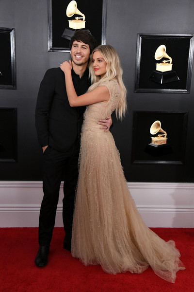More Pics of Kelsea Ballerini Evening Dress (1 of 7) - Kelsea Ballerini Lookbook - StyleBistro [red carpet,carpet,dress,gown,flooring,clothing,fashion,formal wear,premiere,hairstyle,arrivals,morgan evans,kelsea ballerini,grammy awards,california,los angeles,staples center,l,annual grammy awards]