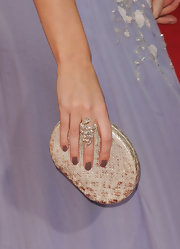 Emily Blunt showed off mushroom-hued nails at the 2010 Emmy Awards.