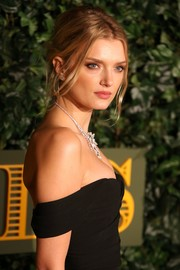 Lily Donaldson swept her tresses back into a messy-glam updo for the London Evening Standard Theatre Awards.