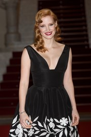 Jessica Chastain accessorized with a beautiful diamond watch by Jaeger-LeCoultre during the premiere of 'The Disappearance of Eleanor Rigby.'