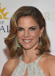 Natalie Morales oozed vintage glamour with this wavy hairstyle at the Miss Universe Pageant.