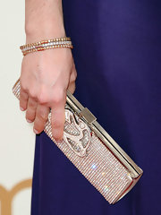 Aleksa Palladino wore a three diamond bangle set featuring two champagne colored diamond bangles set in 18k rose gold and one bangle with white diamonds set in white gold.