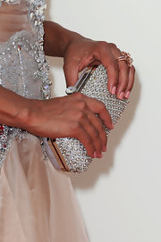 Eva la Rue added more sparkle to her Emmys look with this bejeweled clutch.