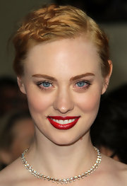 Deborah Ann Woll wore a super-saturated red lipstick at the 64th Annual Directors' Guild Awards.