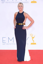 Edie Falco looked gorgeously sporty in her Emmy gown.