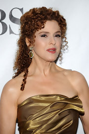 Bernadette Peters added color-perfect bling with these gemstone earrings.