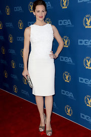 Jennifer Garner looked especially lovely in this white beaded sheath dress at the DGA Awards.